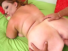 Older fatty  whore getting her wet snatch rammed from behind